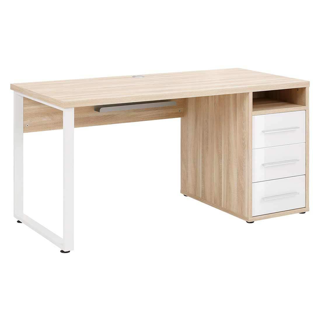 Schreibtisch mit Glasfronten