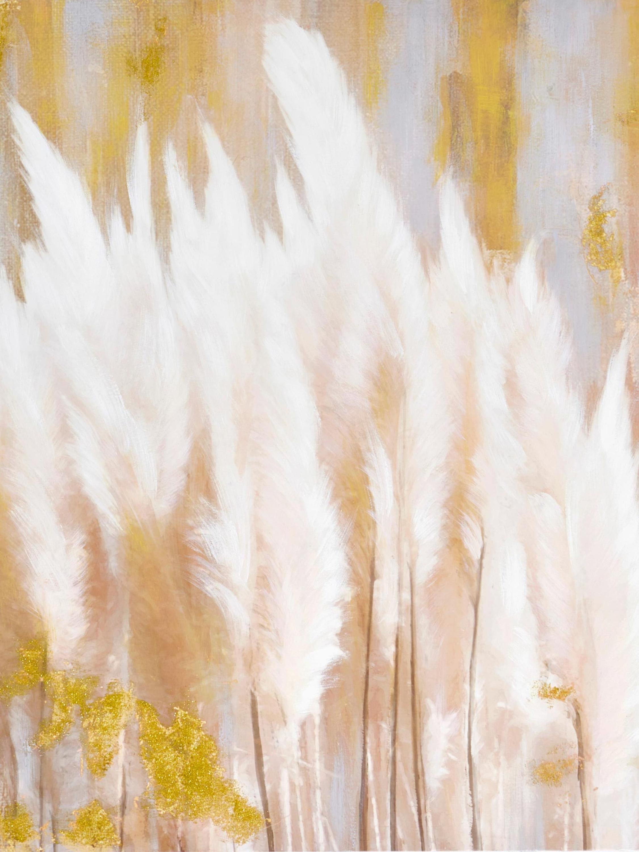 Bild mit goldfarbenen Effekte 80x80