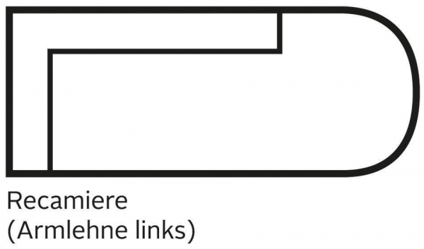 Recamiere Cozy in Struktur