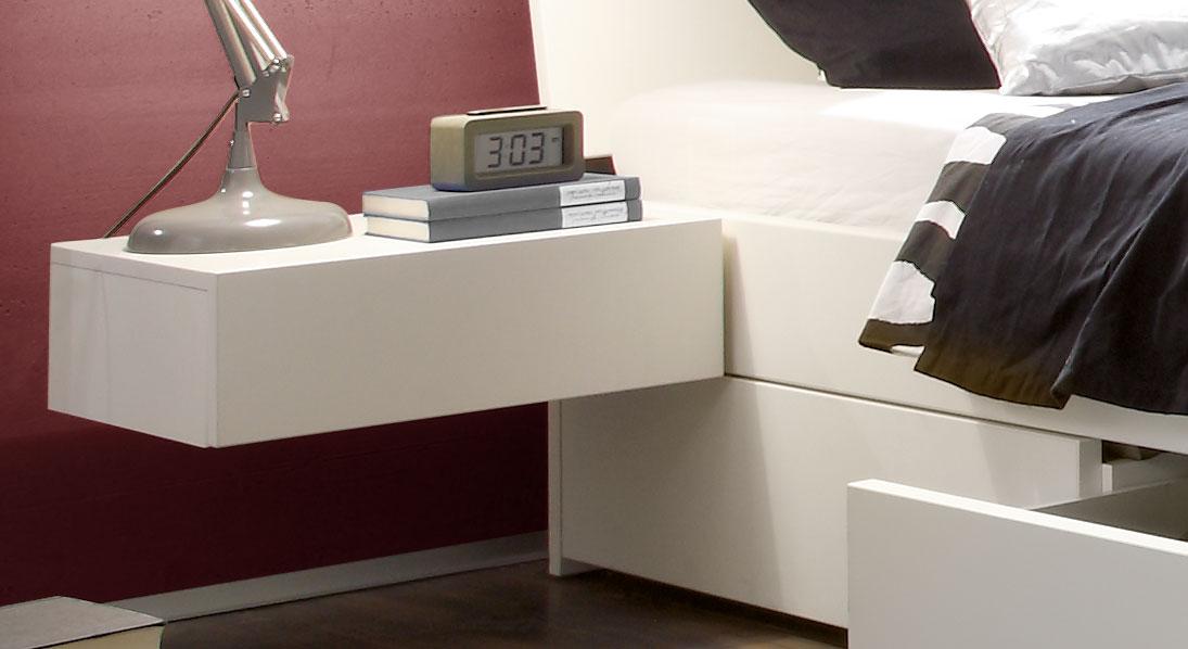 Hänge-Nachttisch mit Schublade