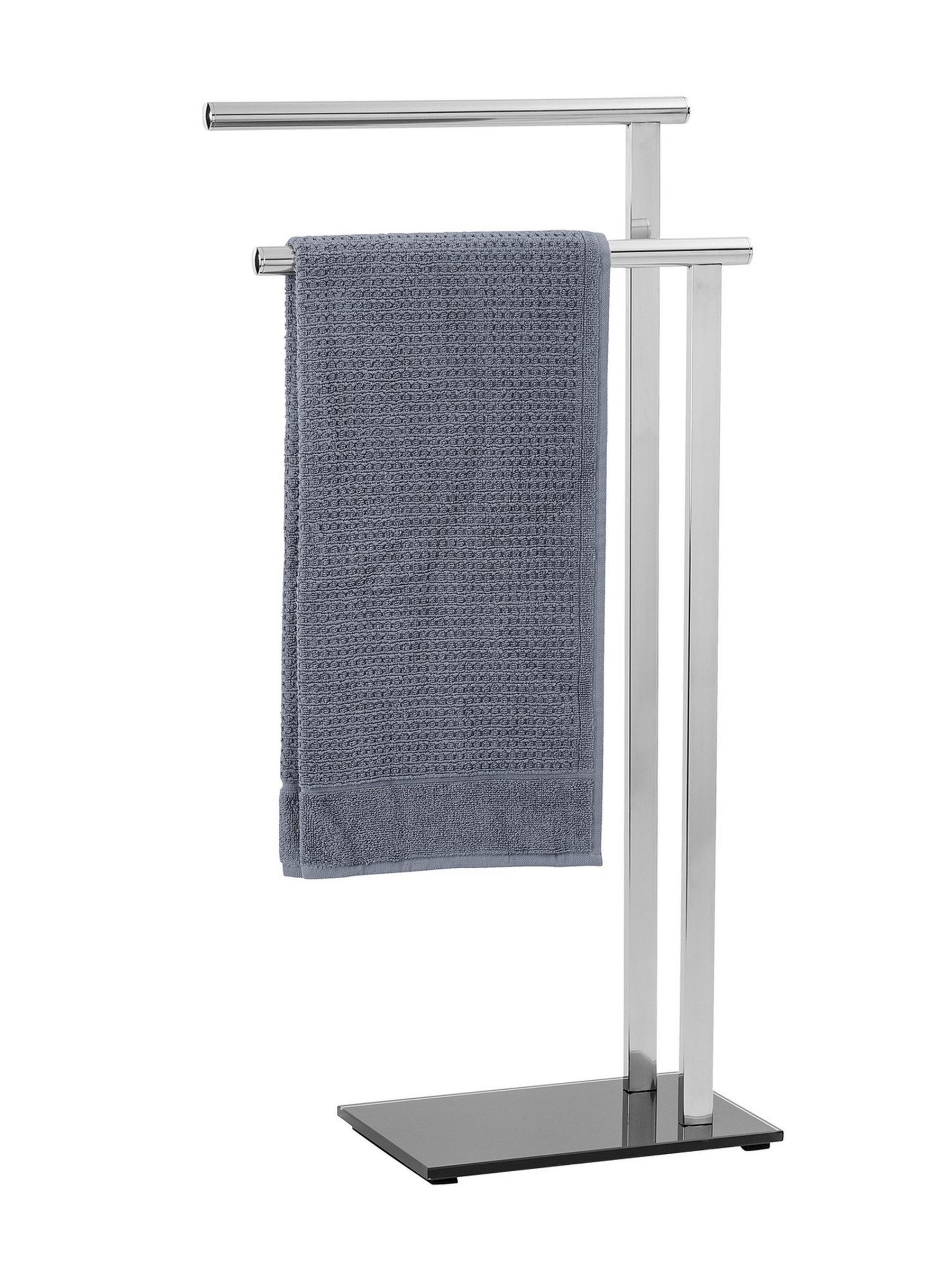 Handtuchhalter mit Glas-Standfuß