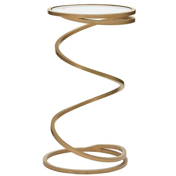 Beistelltisch spiralförmig