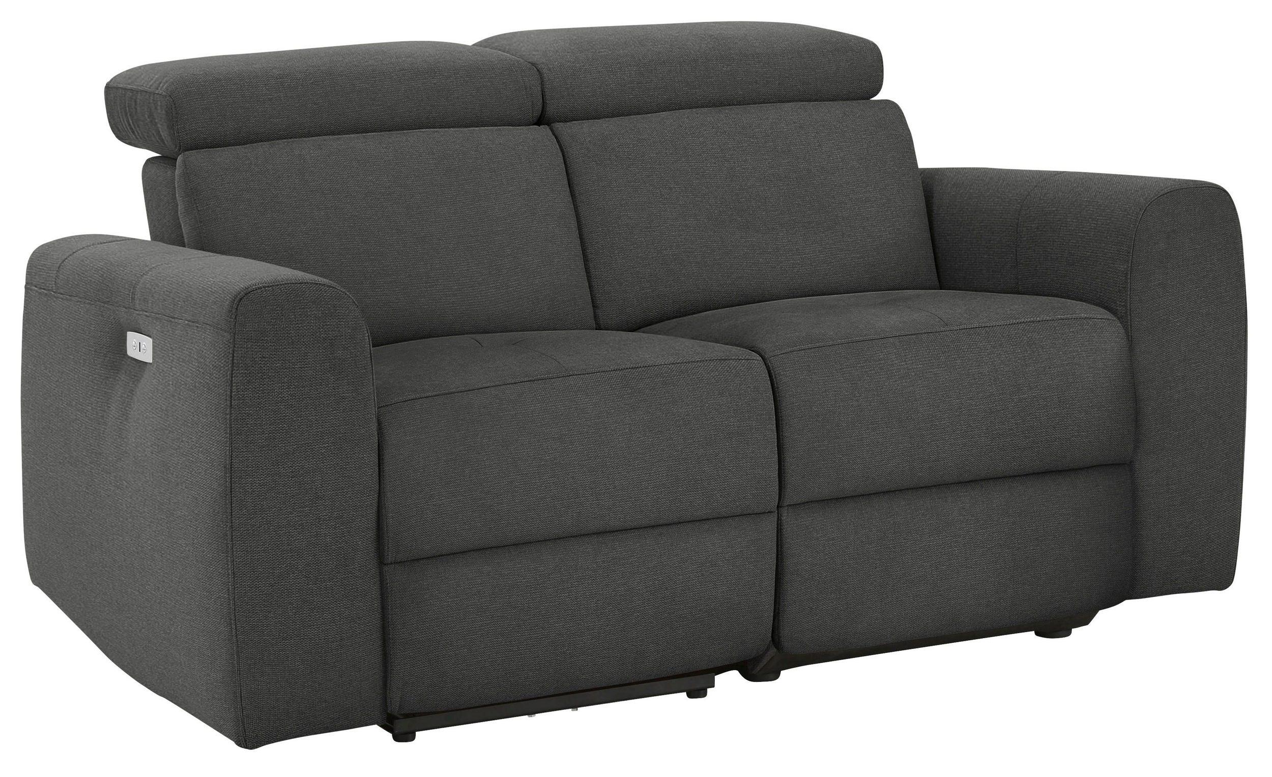 2-Sitzer Sofa Sentrano mit motorischer Relaxfunktion und USB-Anschluss