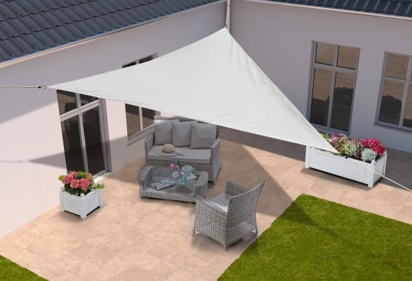 Sonnensegel Dreieck 500x500x500 cm Weiß Sonnenschutz