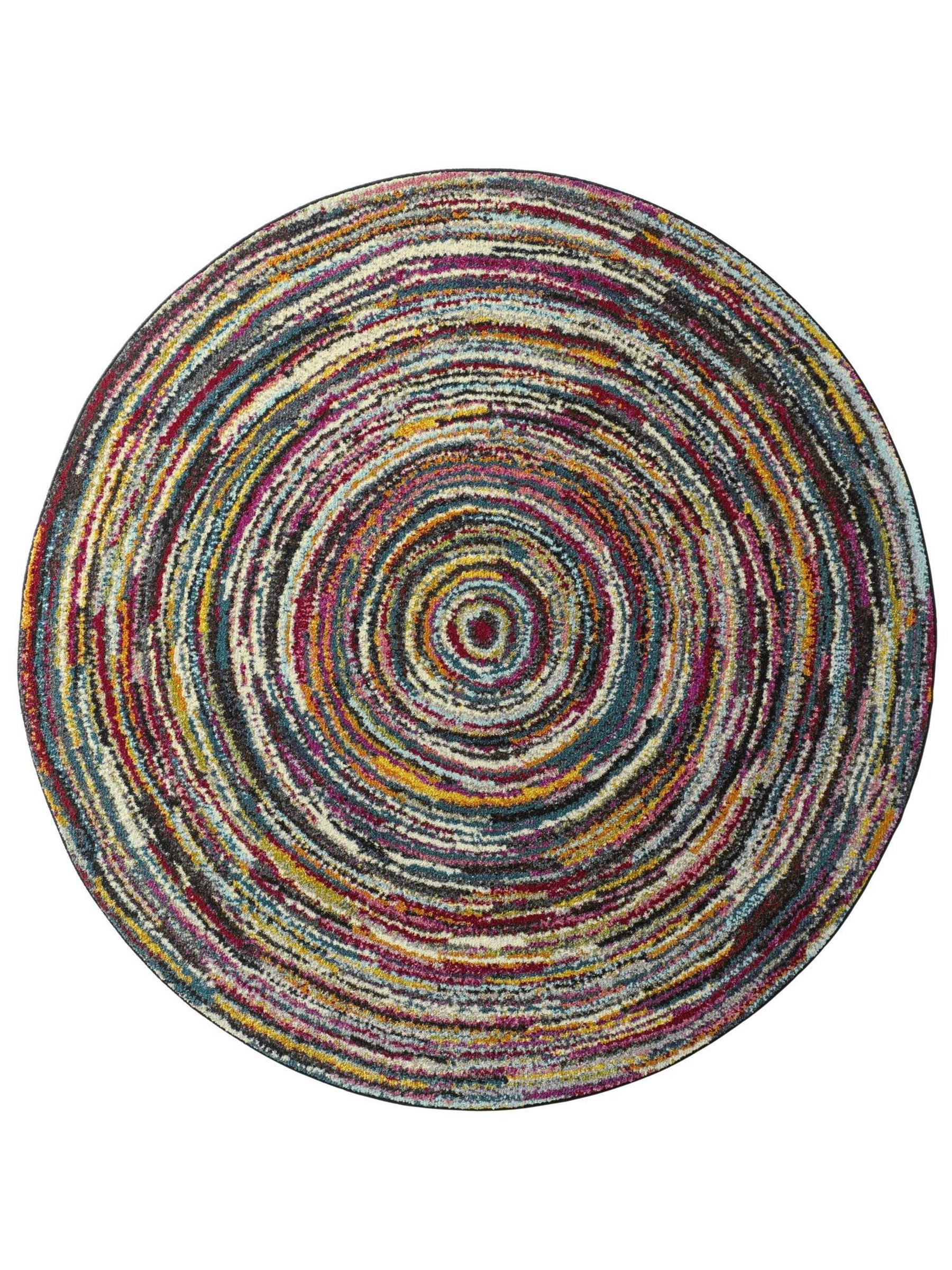 Teppich Ø160 farbenfrohes Dessin
